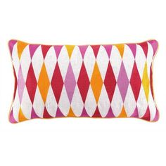Sis Boom by Jennifer Paganelli Franca Embroidered Linen Throw Pillow Color: