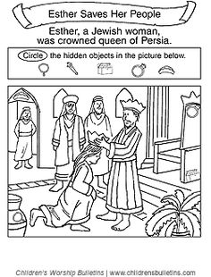 Sunday school activity about Esther for ages 7-12: What happened next? Description from childrensbulletins.com. I searched for this on bing.com/images