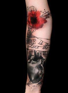 35 Trash Polka Tattoo Designs 3