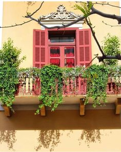 A magical balcony in Beirut.