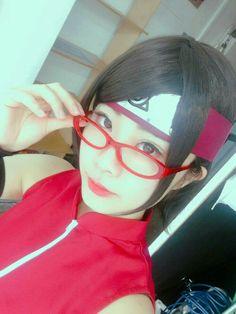 Sarada Cosplay, Anime Cosplay, Boruto And Sarada, Cosplay Costumes, Ulzzang, Boy Or Girl, Korea, Boys, Girls