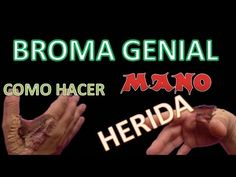 Broma Genial - Mano herida!! - YouTube  Pranks, Prank, Best Pranks, Funny Videos, Funny, Pranks, Joke, Jokes,