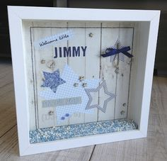 nice to give away Shadow Box Picture Frames, Diy Shadow Box, Box Frames, Diy Baby Gifts, Diy Crafts For Gifts, Baby Shower Gifts, Paper Crafts, Little Presents, Diy Presents