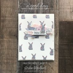 A Good Day Stamp Set from Stampin' Up! 2018 Occasions Catalog by Stesha Bloodhart Stampin' Hoot! #steshabloodhart #stampinhoot