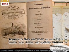 1843 - Gottlieb Studer - Topogr. Mittheilungen aus dem Alpengebirge History, Once Upon A Time, Historia
