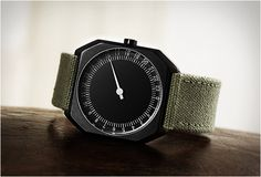 Slow Watches striped away the extra hands for a unique way to tell time, the display shows you all 24 hours in a day! The minimalist watch f...