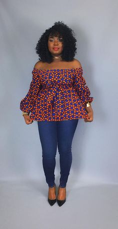 African print off shoulder top with sash ,african clothing,women's Latest African Fashion Dresses, African Print Dresses, African Print Fashion, Africa Fashion, African Dress, Ankara Fashion, African Print Top, African Blouses, African Tops