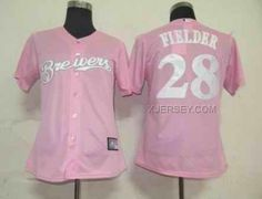 http://www.xjersey.com/brewers-28-prince-fielder-pink-women-jersey.html BREWERS 28 PRINCE FIELDER PINK WOMEN JERSEY Only $35.00 , Free Shipping!