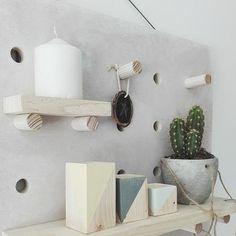 Pegboard de madera - personalizada - hecha a mano - estantería - Nordic ideas