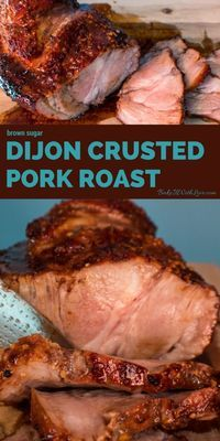 This Brown Sugar Dijon Crusted Pork Roast definitely qualifies as easy with plenty of time to finish off your veggies or other side dishes. Baked Pork Roast, Boneless Pork Roast, Pork Roast Recipes, Pot Roast, Pork Roast In Oven, Prime Pork Roast Recipe, Cooking Pork Roast, Bbq Pork, Food Styling
