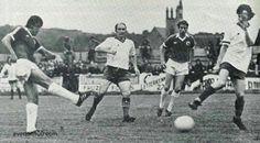 Finn Harps 0 Everton 5 in Sept 1978 at Finn Park. Bob Latchford scores Everton's 4th goal in the UEFA Cup 1st Round, 1st Leg.
