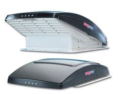 MaxxAir MaxxFan Deluxe RV Roof Vent Model 7500K (Smoke, With Remote) - Campervan HQ - 1