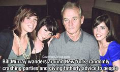 Bill Murray wanders around New York randomly crashing parties and giving fatherly advice to people. Karaoke Party, Bill Murray, Guy Names, Hollywood Celebrities, Best Funny Pictures, Comedians, Did You Know, The Dreamers, I Laughed