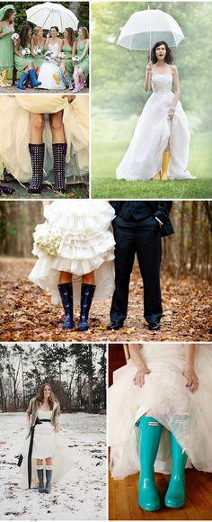Casamento + Galochas | Wedding boots