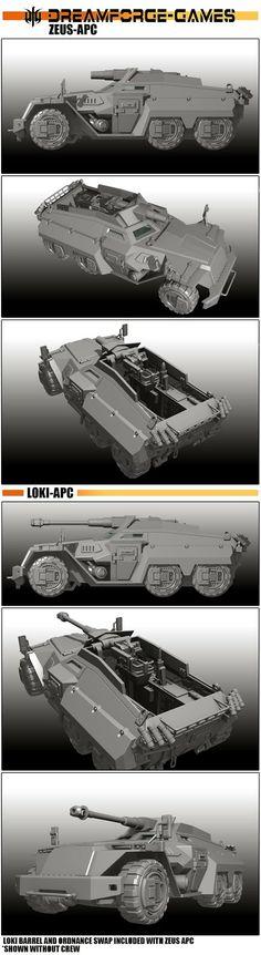 Eisenkern APC/Gun Carriage Zeus and Loki