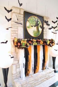 Jennifer Perkins Halloween Mantle