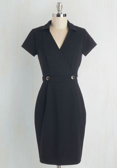 Sophisticated Situation Dress in Black From the Plus Size Fashion Community at www.VintageandCurvy.com