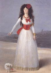 The Duchess of Alba was one of Goya's most favored models.
