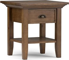 online shopping for Simpli Home Redmond Solid Wood 19 inch Wide Square Rustic End Side Table Rustic Natural Aged Brown from top store. See new offer for Simpli Home Redmond Solid Wood 19 inch Wide Square Rustic End Side Table Rustic Natural Aged Brown Rustic Side Table, Wood End Tables, End Tables With Storage, A Table, Table Lamp, Side Tables, Feng Shui, Rustic Wood, Rustic Decor