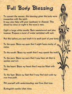 Full Body Blessing (Printable Spell Pages) | Witches Of The Craft®