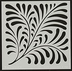 Nouveau Fern Template by Judikins Stencil Printing, Stencil Art, Stencil Patterns, Stencil Designs, Applique Patterns, Cut Canvas, Reverse Applique, Steel Sculpture, Carving Designs