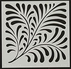 "Nouveau Fern 6""x6"" Template by Judikins (4007745)"