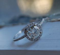 moissanite diamond ring...