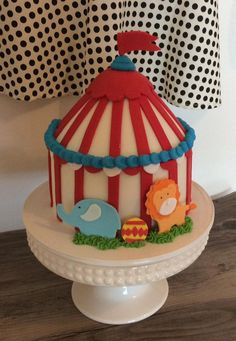 how to make circus tent cake instructions Google Search Circus