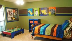 Kinderzimmer Junge bunt bett bild