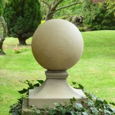 Finial Stone Globe Lights are one moulded piece with ball and plinth combined, made from tough, non-corrosive fibreglass and resin. At just over half a meter high, these lights add the finishing touch to a grand gated entrance or on top of brick or stone pillars. Hand crafted and manufactured in the UK, we also offer a bespoke hand coloured finish, to tone with the stone work at your property. #lights #lighting #finial #plinths #pillars #drivewayentrance #grandentrance #garden #gardendesign Driveway Entrance, Entrance Gates, Grand Entrance, Pillar Lights, Globe Lights, Sandstone Color, Entrance Lighting, Garden Globes, Stone Pillars