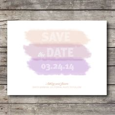 Watercolor Wedding Save the Date Postcard  Customizable  by 51FOLD, $20.00