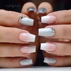Nude nails with rhinestone accent finger ❤ 35 outstanding short coffin nail Coffin Nails, Nude Nails, My Nails, Black Nails, Short Nail Designs, Nail Art Designs, Nails Design, Gorgeous Nails, Pretty Nails