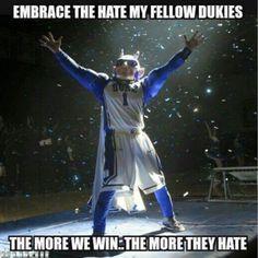 Some suits are gonna be hearing it! Duke University Basketball, University Blue, Duke Basketball, Duke Bball, Duke Game, Duke Shirts, Duke Vs, Grayson Allen, Basketball Funny