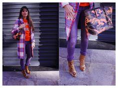 Orange and Purple Colour and Print Clash