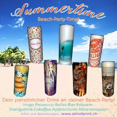 Der Sommer ist da! Dosen mit deinem Wunschdesign, in acht Geschmacksrichtungen. Muster und Infos unter: www.akhofprint.ch #getränkedose #dosendruck #dosen #summertime #giveaway #privatlabel #drinks #seccobianco #bier #hugo #energydrink #rotwein #grillparty #apfelspritzer #mineralwasser #party #event #cooldrinks #hingucker #bellini #malwasneues #hochzeit2019 #polterabend #hotinthecity #beachparty #partytime🎉 #partydrinks #hochzeitsparty #strandparty #instaparty Hugo, Dose, Pint Glass, Giveaway, Tableware, Mineral Water, Grill Party, Thanks Card, Red Wine