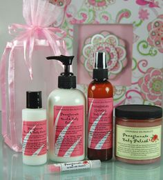 Fall in love with the deliciously scented Pomegranate Gift Set, infused with pomegranate seed extract! $39. ORDER NOW! https://www.facebook.com/c.love.lemongrass.spa