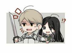 Armin Snk, Ymir And Christa, Horse Face, Attack On Titan Art, Funny Art, Funny Faces, Four Seasons, Kawaii Anime, Manga Anime