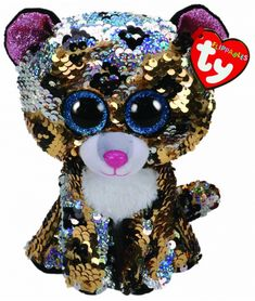 TY Beanie Boo: Flip Sterling Leopard – Medium PlushTy Flippables have shimmering sequins and Ty's iconic big sparkly eyes.The reversible sequins let you change the colour of your soft toy and each TyFlippables character has its own birthday!Features:Glitz things up and add them to your Ty collection!Handmade with the finest quality standards in the industry.Authentic Ty product.23cm tall ApproxCollect them all.Suitable for ages 3 & up
