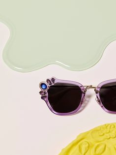 04c05c57e2 In love with these Miu Miu violet sunglasses! Check them out on our site!