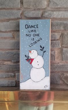 snowman on reclaimed wood