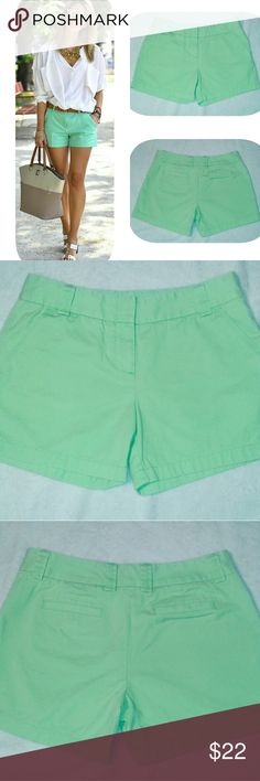 J. Crew Shorts Green J crew shorts, gently worn, no flaws. Size 6. ~Same day shipping! ~Save 15% off bundle of 3+ items. J. Crew Shorts