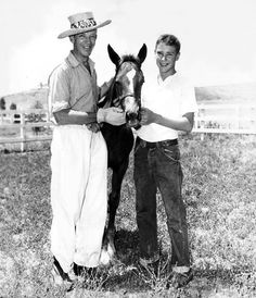 Fred Astaire horsing around with his son Fred Jr