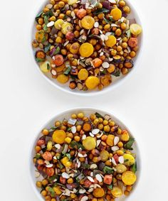 Moroccan and chick pea salad