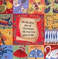Charity Christmas Card - 12 Days of Christmas - Cards For Good Causes Charity Christmas Cards, Christmas Wrapping, 12 Days Of Xmas, All Things Christmas, Five Golden Rings, Seven Swans, My True Love, Good Cause, Fall Cards