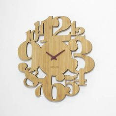 Your place to buy and sell all things handmade Router Projects, Wood Projects, Woodworking Projects, Unique Wall Clocks, Wood Clocks, Minimalist Wall Clocks, Taiwan, Handmade Clocks, Bamboo Wall