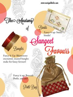 Sangeet - Favours & Return Gifts | Marigold Tales