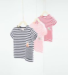 T-shirt with stripes and appliqué detail