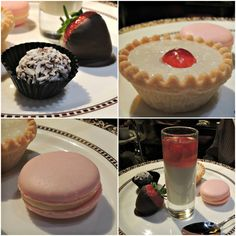 The gluten free pastries on offer for afternoon tea at Flemings Mayfair Hotel in London