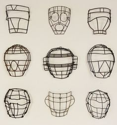 Lost Found Art - Antique Baseball Catchers Masks