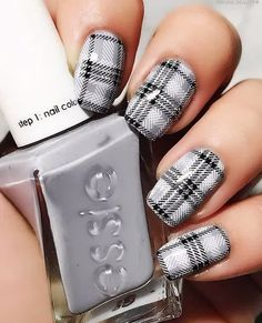 Simple Nail Art Designs That You Can Do Yourself – Your Beautiful Nails Plaid Nail Art, Plaid Nails, Nagel Stamping, Stamping Nail Art, Nail Stamping Designs, Simple Nail Art Designs, Best Nail Art Designs, Plaid Nail Designs, Cute Nail Art